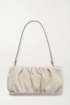 STAUD Bean Gathered Leather Shoulder Bag - Cream