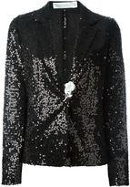 Victoria Beckham sequinned blazer - women - Silk/Polyester/Brass - 10