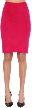 Versace Mohair Blend Knit Pencil Skirt