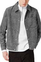 Topman Men's Boucle Shirt Jacket