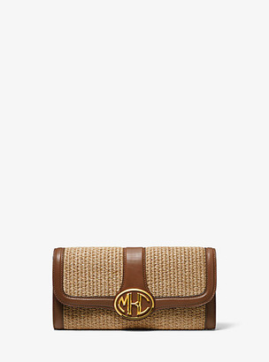 Michael Kors Monogramme Small Woven Clutch