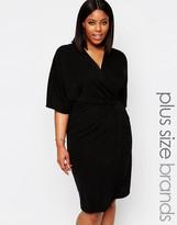 Club L Plus Midi Dress With Wrap Front