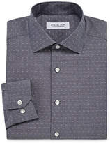 COLLECTION Collection by Michael Strahan Wrinkle Free Cotton Stretch Long Sleeve Woven Dots Dress Shirt