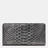 Coach Skinny Wallet In Exotic Embossed Leather