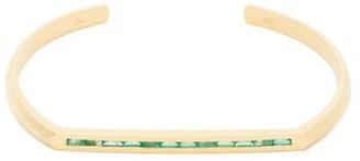 Lizzie Mandler - Flat Top Emerald & 18kt Gold Bracelet - Green Gold
