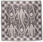 Valentino Paisley Raw-Edged Scarf