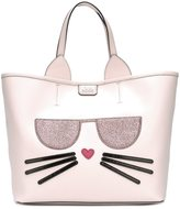 Karl Lagerfeld kitty embossed tote