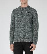 Reiss Reiss Horton - Twisted Yarn Jumper In Green