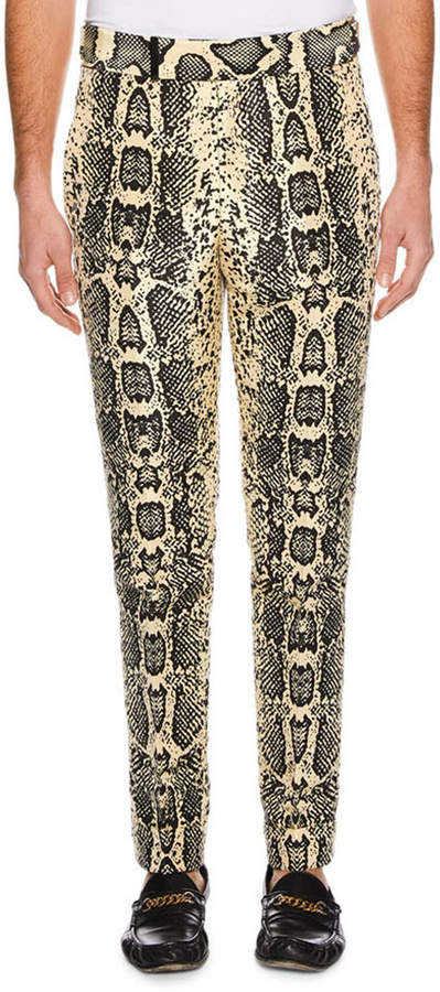Snakeskin Pants Mens Shopstyle