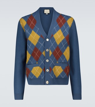 Gucci Checked wool cardigan