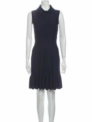 Alaia Turtleneck Mini Dress w/ Tags Blue