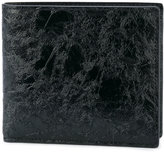 Maison Margiela textured billfold wallet - men - Calf Leather - One Size
