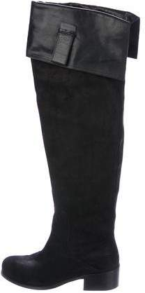 Christian Dior Suede Over-The-Knee Boots