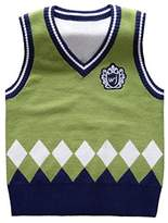 JELEUON Baby Boys Toddler V-Neck Argyle Soft Pullover Waistcoat Sweater Vest