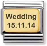 Nomination 18ct Gold Classic Charm 030121/01 Engraved Wedding (Date)
