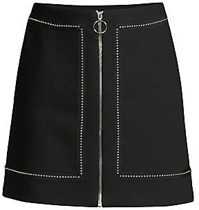 Maje Women's Studded-Trim A-Line Skirt
