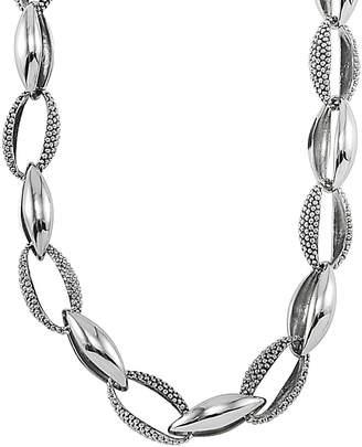 Lagos Signature Caviar Silver Necklace