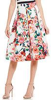 Eliza J Floral Printed Midi Skirt