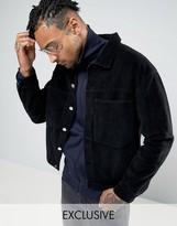 Mennace Western Cord Jacket In Black