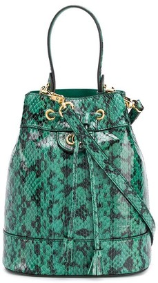 Gucci Ophidia snakeskin-effect bucket bag
