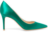 Gianvito Rossi 85 Satin Pumps - Green
