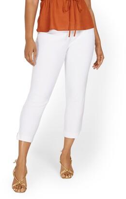 New York & Co. Whitney High-Waisted Pull-On Slim-Leg Ankle Pant - White