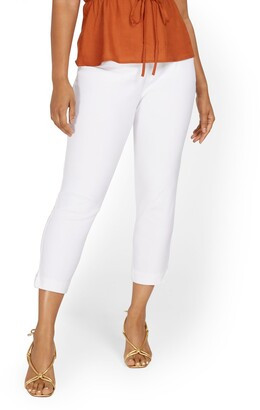 New York & Co. Whitney High-Waisted Pull-On Slim-Leg Capri Pant - White