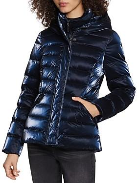 Dawn Levy Kimmy Hooded Liquid Shine Puffer Coat
