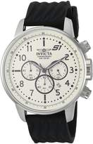 Invicta Men's 'S1 Rally' Quartz Stainless Steel and Silicone Casual Watch, Color:Black (Model: 23810)