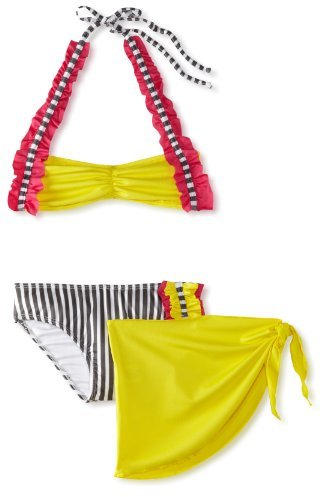 Sweet Lola Big Girls' Stripes Swimsuit