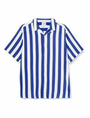 ONLY & SONS Men's Onscarter Ss Striped Viscose Shirt