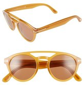 Tom Ford Clint 50mm Aviator Sunglasses