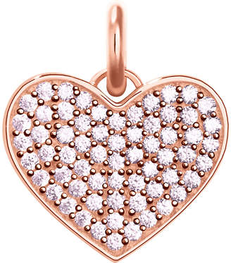Thomas Sabo Love Coin rose-gold and zirconia pendant
