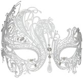 Delicate Glitter Metal Lady Masquerade Mask Halloween Mardi Gras Party Mask