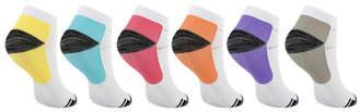 My Compression Socks Compression Socks Multi - White Color Block Six-Pair Ankle Compression Socks Set