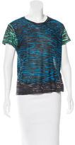 Proenza Schouler Abstract Print Short Sleeve Top