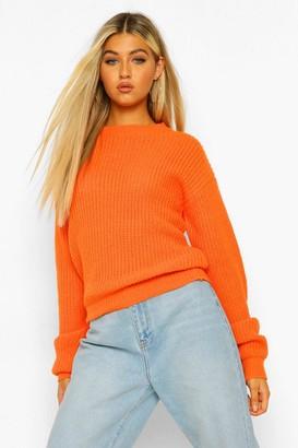 boohoo Tall Crew Neck Crop Sweater