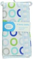"""Luvable Friends Colorful Circles"""" 4-Pack Burp Cloths"""