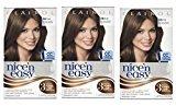 Clairol Nice 'n Easy Hair Color 117 Natural Medium Golden Brown 1 Kit (Pack of 3)