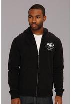 Brixton Roky Zip Hooded Fleece (Black) - Apparel