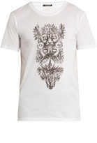 Balmain Totem-print crew-neck cotton T-shirt