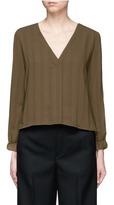 Topshop V-neck stripe blouse