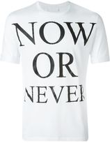 Neil Barrett Now or Never T-shirt