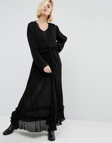Religion Maxi Smock Dress With Sheer Layers