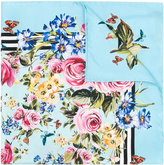 Dolce & Gabbana floral square scarf - women - Silk - One Size
