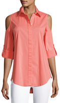 Finley Cold-Shoulder Button-Front Shirt