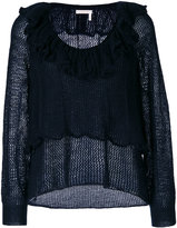 See by Chloe frilled sweater - women - Polyamide/Mohair/Wool - M