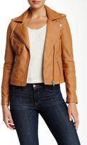 Doma Waxy Genuine Lambskin Leather Biker Jacket