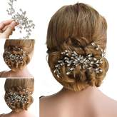 Missgrace Bling Bridal Wedding Hair Combs with Crystals for Women and Girl
