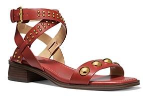 MICHAEL Michael Kors Women's Garner Studded Strap Mid Heel Sandals